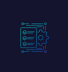 Workflow icon linear vector