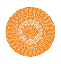 yellow mandala decoration retro texture element vector image