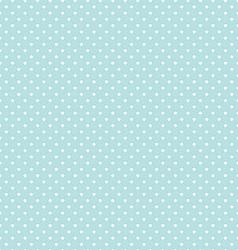 Blue Polka Dot Seamless Pattern Background vector image