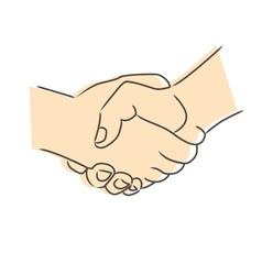 Drawing of handshake vector image vector image