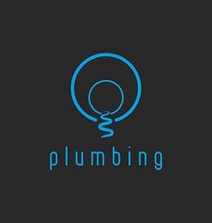 Plumbing mockup water logo creek flow from the vector image