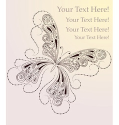 butterfly drawing vector image