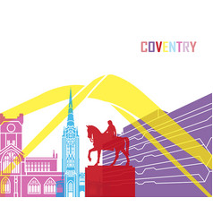 coventry skyline pop vector image vector image