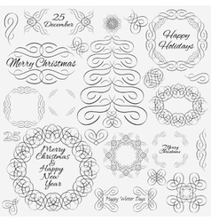 design elements Hand-drawn flourishes vector image