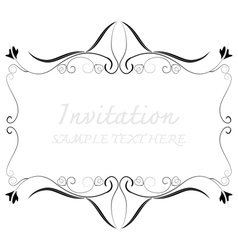 invitation with beautiful designs vector image vector image
