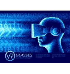 Man with glasses of virtual reality vector image