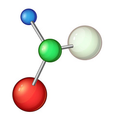 model molecule icon cartoon style vector image vector image