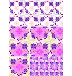 Options shades seamless floral pattern vector image
