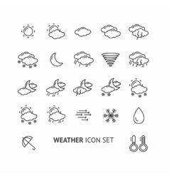 outline weather icon black and white vector image vector image