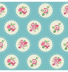 Seamless Vintage Flower Background vector image vector image