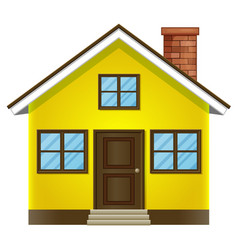 single house on white background vector image