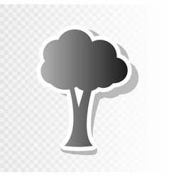 tree sign new year blackish vector image vector image