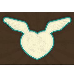 Valentines Heart Grunge vector image vector image