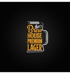 beer mug design background vector image vector image