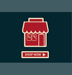 concept of online shopping shop online store web vector image