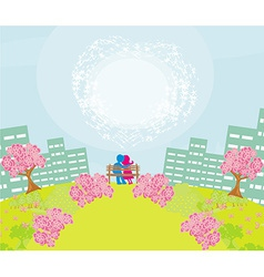 Couple in the park vector image