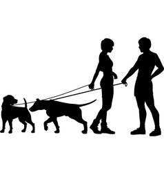 Dog people chat up vector image vector image