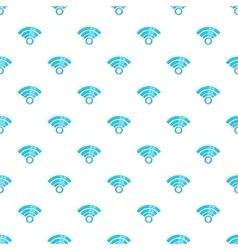 Wireless network symbol pattern cartoon style vector