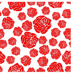 abstract rose seamless pattern vector image