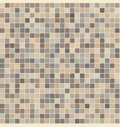 brown ceramic tile mosaic vector image