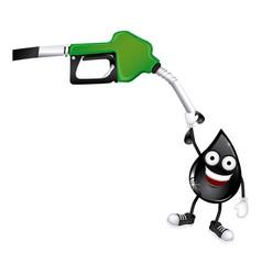 green nozzle with dark gray drop vector image