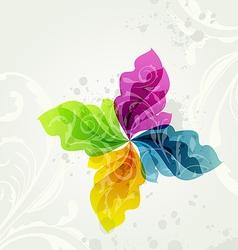 Multicolor transparent floral background vector image