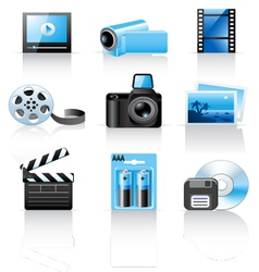 Photo and video icons vector