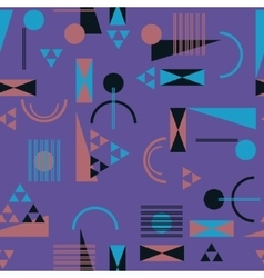 Seamless geometric pattern in retro 80s style vector image