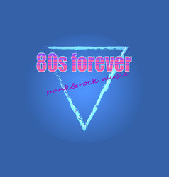 80s forever punk rock music vector