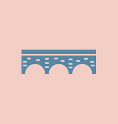 ancient stone arch bridge vector image