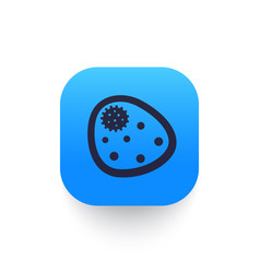 Bacterium microbe icon pictogram vector