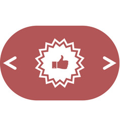Badge with thumbs up icon vector