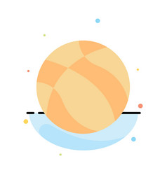 Ball basketball nba sport abstract flat color vector