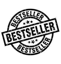 Bestseller round grunge black stamp vector