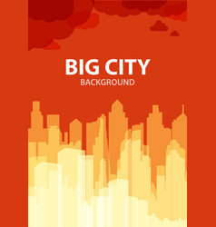 Big city abstract background creative ad flyer vector