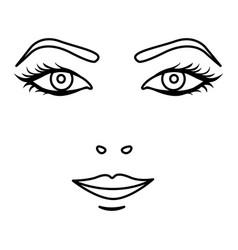 Black silhouette woman face portrait icon vector