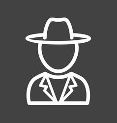 Boy in casual hat vector