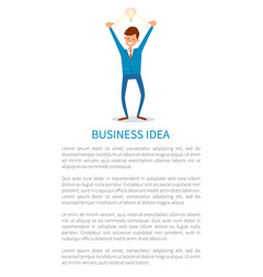 Business idea and answers man innovative solution vector