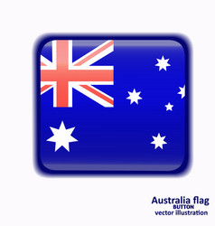 button with flag of australia vector image