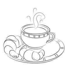 Cartoon image of espresso vector