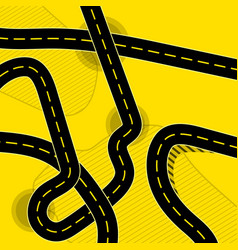 Different roads background vector