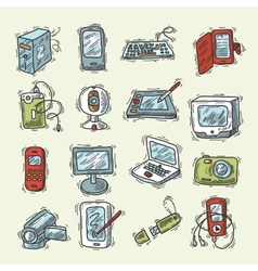 Digital Device Set vector image