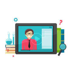 E-learning online education concept vector