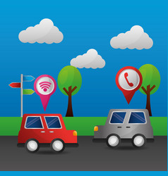 gps navigation application vector image