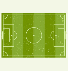 green soccer striped field scheme vector image