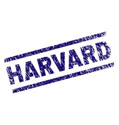 grunge textured harvard stamp seal vector image