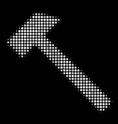 Hammer halftone icon vector