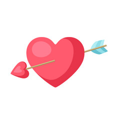Heart and arrow icon vector