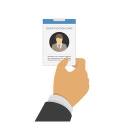 id card in hand vector image