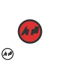 Initials ATP logo negative space A T P letters vector